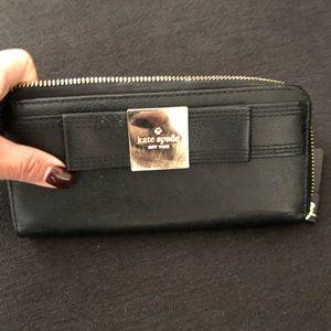 Black bow Kate spade wallet